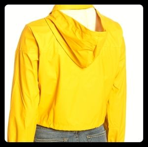 Sweet Rain Yellow cropped hooded raincoat S L